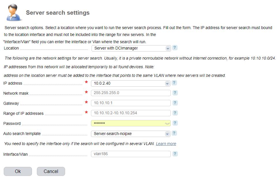 Server search