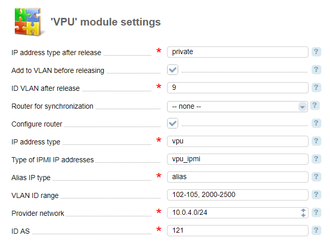 VPU (Vlan Per User)