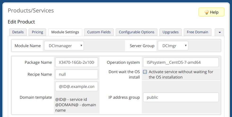 Integration with WHMCS - DCImanager Documentation