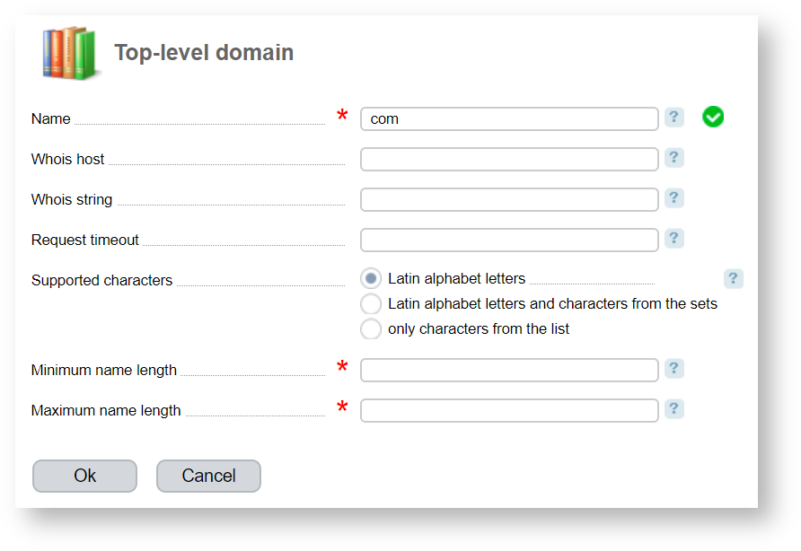 Top Level Domains Billmanager Administrator And Developer Guides